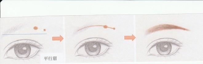 平行眉描き方[1]