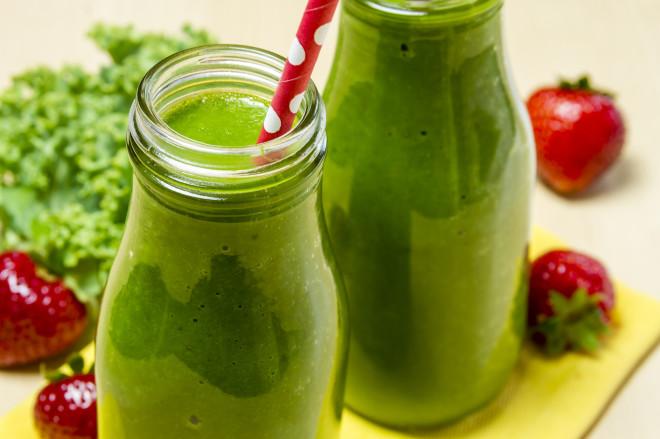 Healthy Green Juice Smoothie Drink