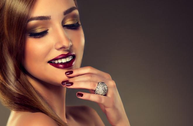 Luxury fashion style, nails manicure.
