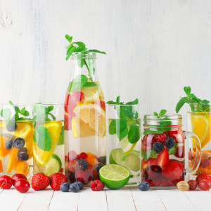 Flavored fruit infused water