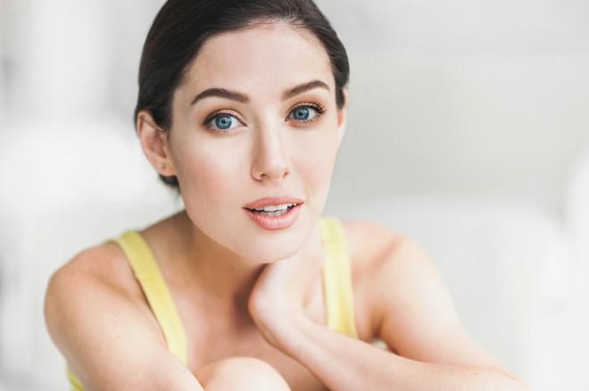 Close-up portrait of beautiful woman