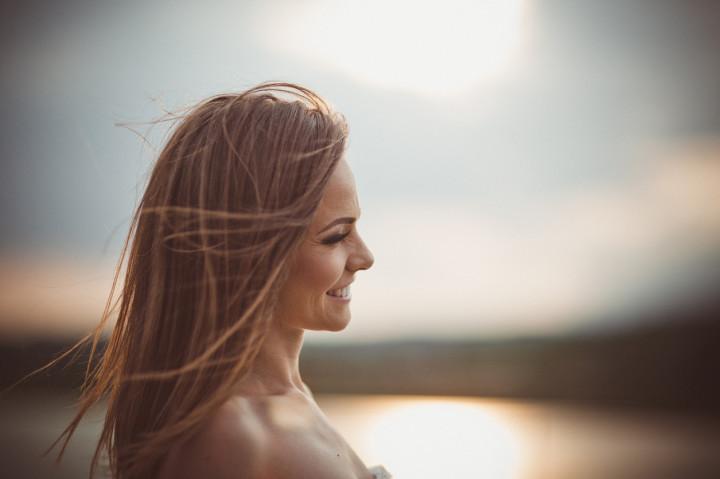 Bride Posing for Portrait