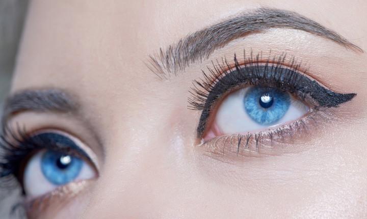 blue eyes looking away