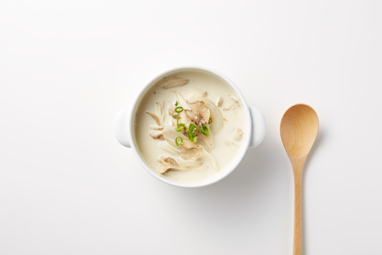 まいたけミルクスープ