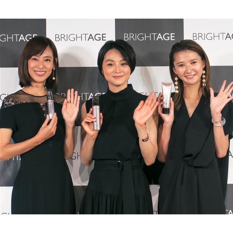 本上まなみ・小泉里子・美優のアクティブライフを支える!簡単2ステップエイジングケア『ブライトエイジ』