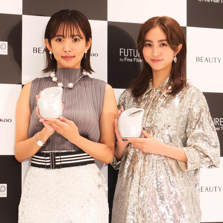 堀田茜&夏菜の美容法とは?!「BEAUTY BASE by Kao」オープン記念イベントで未来の肌体験