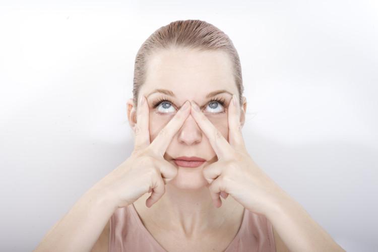 黒くまは目の周りの筋肉を鍛える